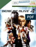 Dead or Alive 4 - Manual - 360
