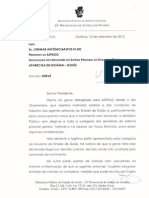Ofício MP - ASPEGO - Greve