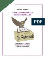 Steiner Rudolf - Tres Conferencias Fundamentales