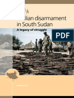 redingSouth Sudan Civilian Disarmament