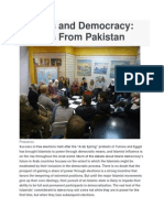 Islamists and Democracy in Pakistan