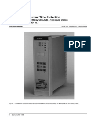 Numerical Overcurrent Time Protection and Thermal Overload