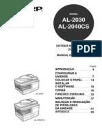 Manual Sharp AL-2040