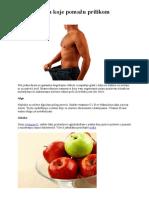 18 namirnica koje pomažu prilikom mršavljenja