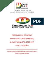 Programa de Gobierno Jhon[1]