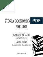 Corso Di Storia Economica - Bocconi 2000