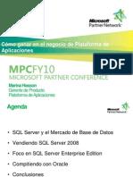 Cómo ganar en el negocio de plataforma de aplicaciones -Microsoft Partner Conference FY10