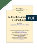 LA RÉVOLUTION FRANÇAISE EN martinique