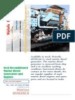 Wartsila 6FHD240 G Marine Diesel Generator for Sale