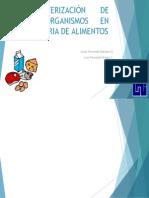 CARACTERIZACIÓN DE MICROORGANISMOS EN INDUSTRIA DE ALIMENTOS