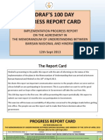 100 days report card