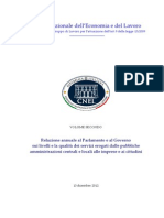 Relazione Annuale, Volume Secondo - Cnel-2012
