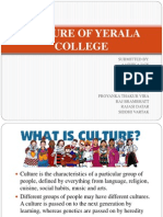 Culture of Yerala College
