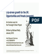 City-Driven Growth for the UK - Opportunities and Threats (Excerpts)
