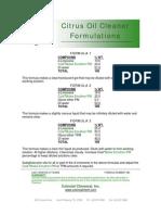 Citrus Oil Cleaner Formulations - 083