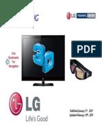 LG 3D TV -Training-Presentation Manual