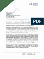 3182-SUTEL-DGC-2013 Convertel - Respuesta Primer Solicitud Cartel 2013LA-00010-SUTEL