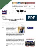 Aldo Rico anunció su pase definitivo al massismo - Infonews _ Un mundo, muchas voces