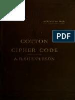 Cotton Telegraphic Cipher Code 1878