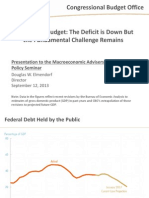 Has The Fundamental Federal Budgetary Challenge Been Addressed?