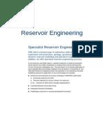 Specialist Reservoir Engineering