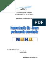 Isomerização Cis - Trans por Inversão ou rotação N2H2