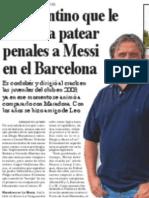 Guillermo Hoyos, el argentino que le enseñó patear penales a Messi en el Barcelona