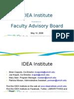 Faculty Advisory Board Presentation May 2009
