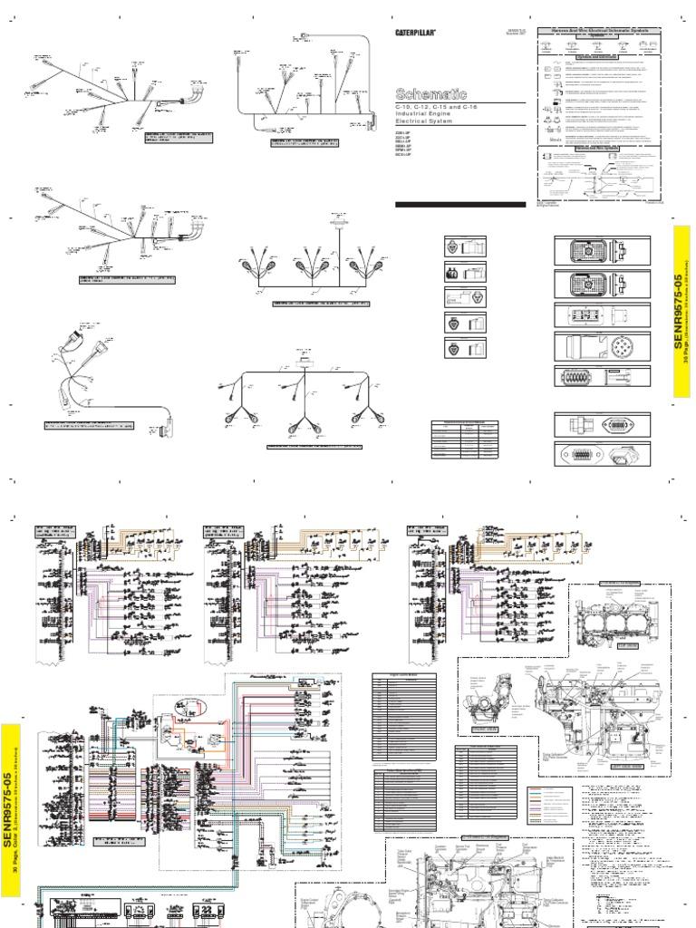 cat c12 c13 c15 electric schematic rh scribd com Caterpillar 3208 Wiring-Diagram Generac Diesel Generator Wiring Diagram