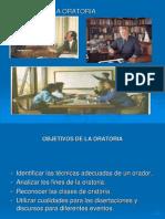 Diapositivas de La Oratoria