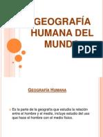 GEOGRAFÍA HUMANA DEL MUNDO