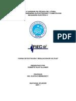 Carga y Regulacion de Voltaje en Generadores Sincronos