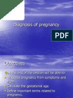 Diagnosis of Pregnancy
