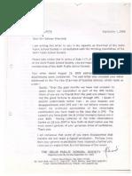 Salman Khurshid's expulsion from Delhi Public School (DPS) Society - 2008 letter
