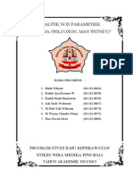 Analitik Non Parametrik UJI BEDA (Wilcoxon, Man Witney)
