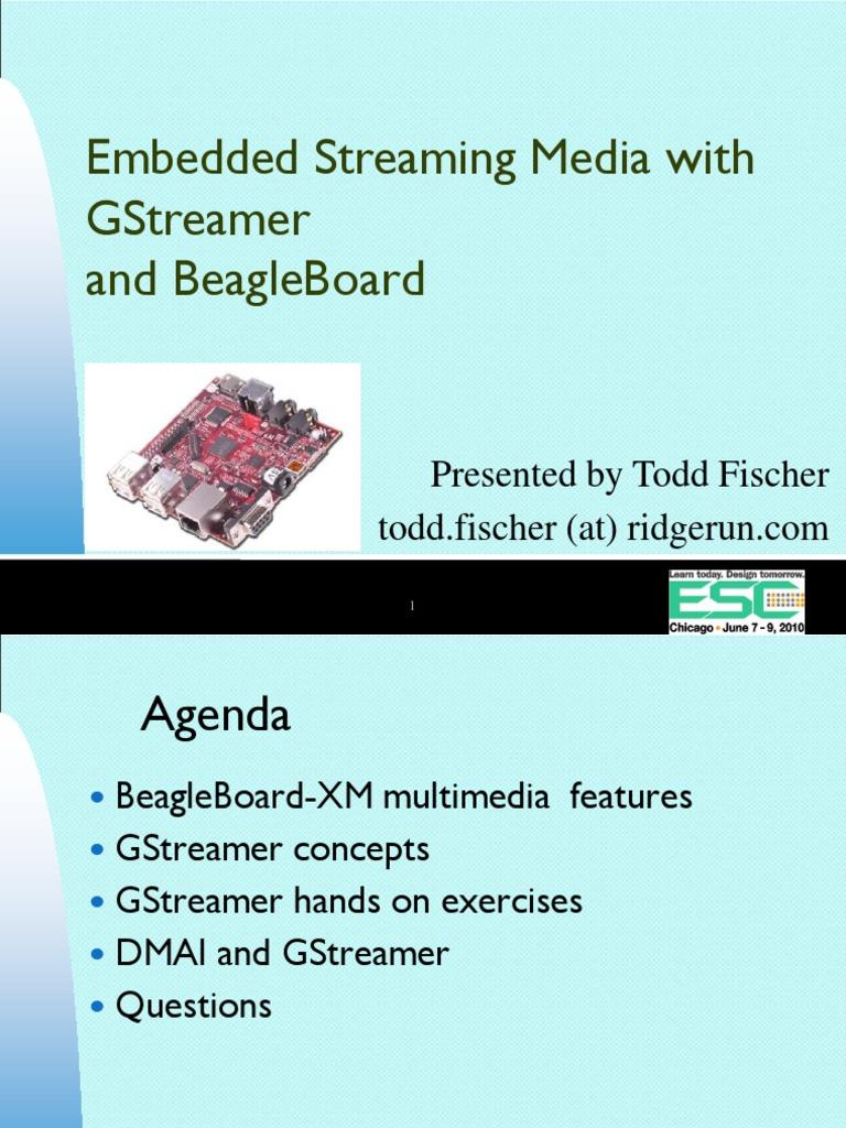 GStreamer Esc Chicago 2010 | Digital Signal Processor | Arm