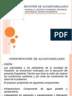 DIAPOSITIVAS - CONSTRUCCIÓN DE ALCANTARILLADO
