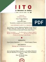 Responsabilidad de los intelectuales ante la violencia, Revista Mito, No. 25, 1959