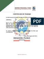 Certificado de Trabajo,Luz