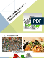 Incineración DE Residuos Sólidos Urbanos