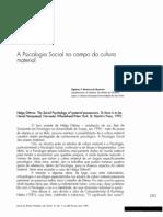 Psicologia Social e Cultura Material