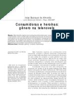 ALMEIDA, Helísa Buarque de. Consumidoras e heroínas