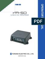FA50 Operator s Manual-B