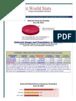 Oceania Internet Usage Stats and Population Statistics