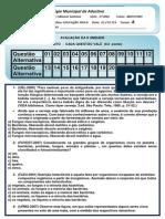 EDUCAÇÃO FISICA  II UNIDADE -  2º ANO A- MATUTINO