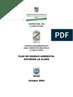 Plan de Manejo Ambiental Hda La Clara Angelopolis 2005