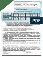 EDUCAÇÃO FÍSICA  II UNIDADE  - 2º ANO B - VESPERTINO