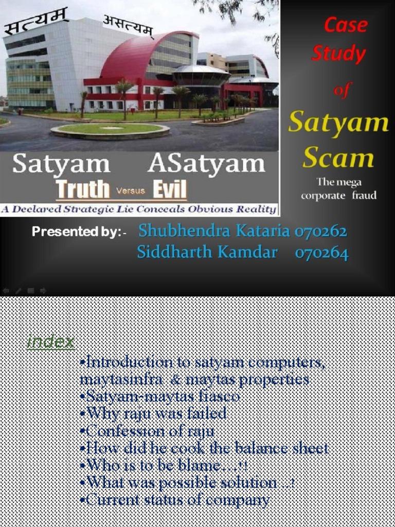 satyam corporation essay