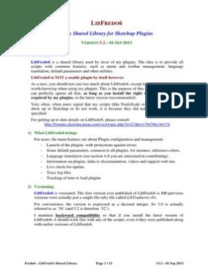 LibFredo6 User Manual - English - V5 2   Sketch Up   Directory