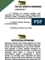 INSTITUIÇÕES DE DIREITO ROMANO